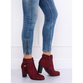 High-heeled burgundy boots VQ-31 Winered 3