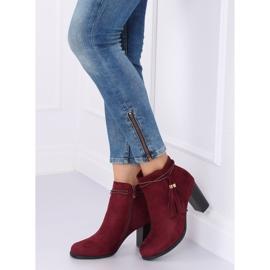 High-heeled burgundy boots VQ-31 Winered 4