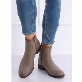 Beige Jodhpur boots for women 1304 Khaki 3