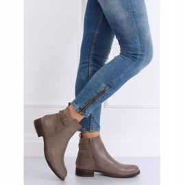 Beige Jodhpur boots for women 1304 Khaki 1