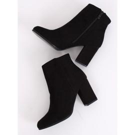 Black high-heeled boots G-7656 Black 5