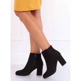 Black high-heeled boots G-7656 Black 2