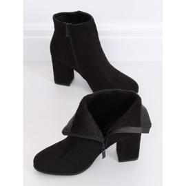 Black high-heeled boots G-7656 Black 3