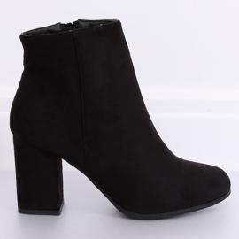 Black high-heeled boots G-7656 Black 4