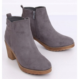 Gray Wide-heeled gray boots YL96044 Gray grey 3