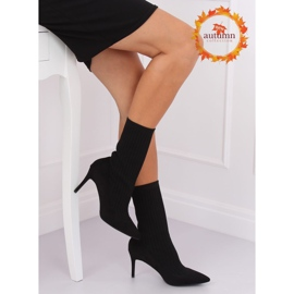 Boots with a sock upper black T5033 Black 1