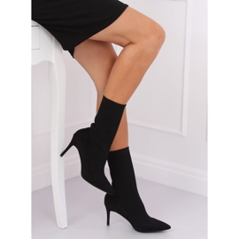 Boots with a sock upper black T5033 Black 4