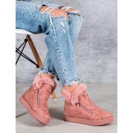 SHELOVET Booties With A Zipper pink 1