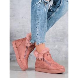 SHELOVET Booties With A Zipper pink 5