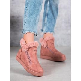 SHELOVET Booties With A Zipper pink 6