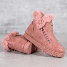 SHELOVET Booties With A Zipper pink 2