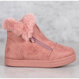 SHELOVET Booties With A Zipper pink 7
