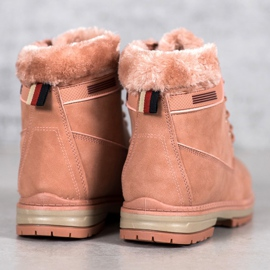 SHELOVET Hiking Boots With Fur pink 6
