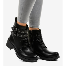 Black boots with buckles 9996-7 2