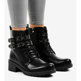 Black boots with buckles 9996-7 1