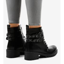 Black boots with buckles 9996-7 4