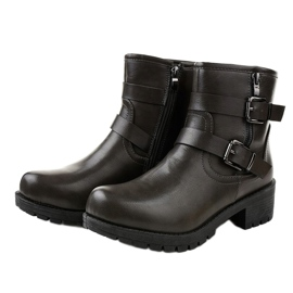 Gray boots with buckles 9996-5 grey 2