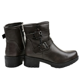 Gray boots with buckles 9996-5 grey 3