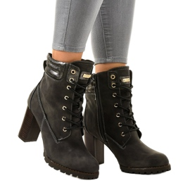 Gray high ankle boots on the 878-GA post grey 1