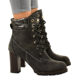 Gray high ankle boots on the 878-GA post grey 2