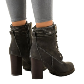 Gray high ankle boots on the 878-GA post grey 3
