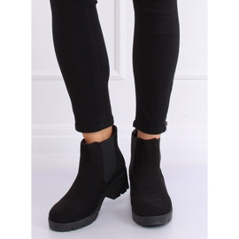 Black Chelsea boots with thick soles 9996-6 Black 1