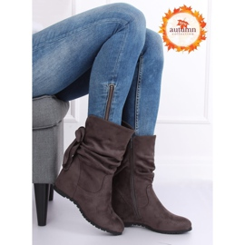 Gray Wedge boots H8120 Gris grey 1