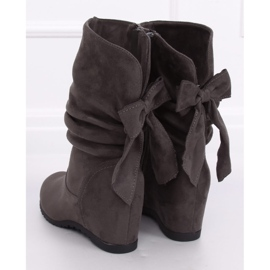 Gray Wedge boots H8120 Gris grey 4