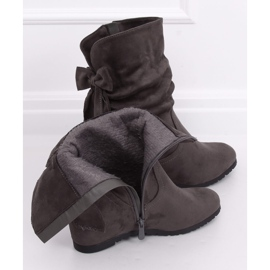Gray Wedge boots H8120 Gris grey 2