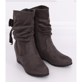 Gray Wedge boots H8120 Gris grey 3