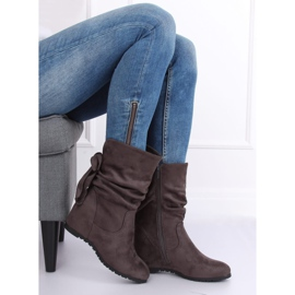 Gray Wedge boots H8120 Gris grey 5