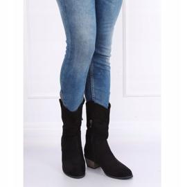 Black CM-9M1-1 Black cowboy boots 1