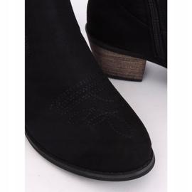 Black CM-9M1-1 Black cowboy boots 2