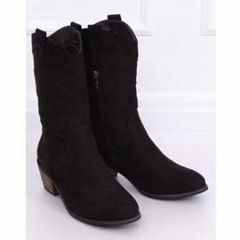 Black CM-9M1-1 Black cowboy boots 3