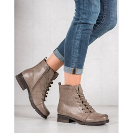 Forever Folie Beige lace-up boots 3