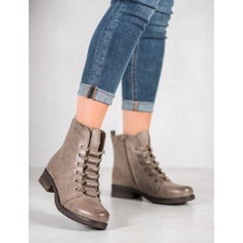 Forever Folie Beige lace-up boots 4