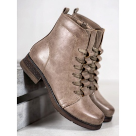 Forever Folie Beige lace-up boots 1