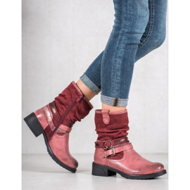 SHELOVET High Red Boots 2