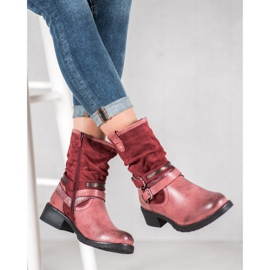 SHELOVET High Red Boots 4
