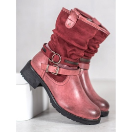 SHELOVET High Red Boots 1
