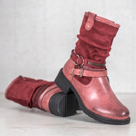 SHELOVET High Red Boots 6