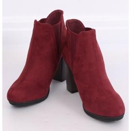 High-heeled boots, burgundy H9261 Burdeos red 1