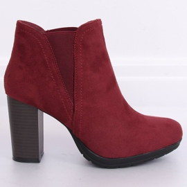 High-heeled boots, burgundy H9261 Burdeos red 2