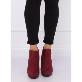 High-heeled boots, burgundy H9261 Burdeos red 4