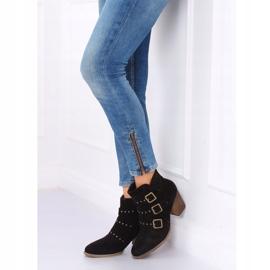 Black cowboy boots L88-162 Black 2