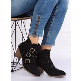 Black cowboy boots L88-162 Black 1