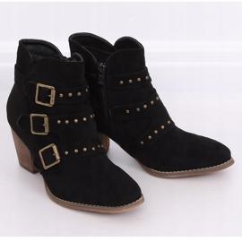 Black cowboy boots L88-162 Black 4