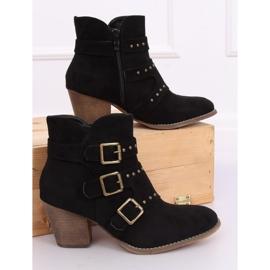 Black cowboy boots L88-162 Black 3
