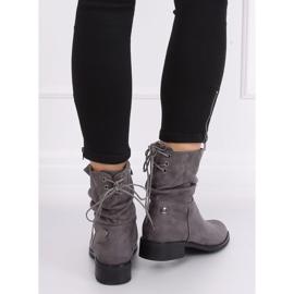 Gray women's flat gray boots B-09 Gray grey 2