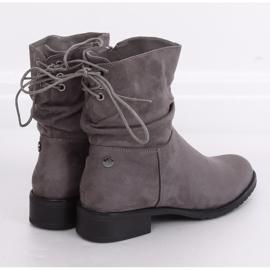 Gray women's flat gray boots B-09 Gray grey 3